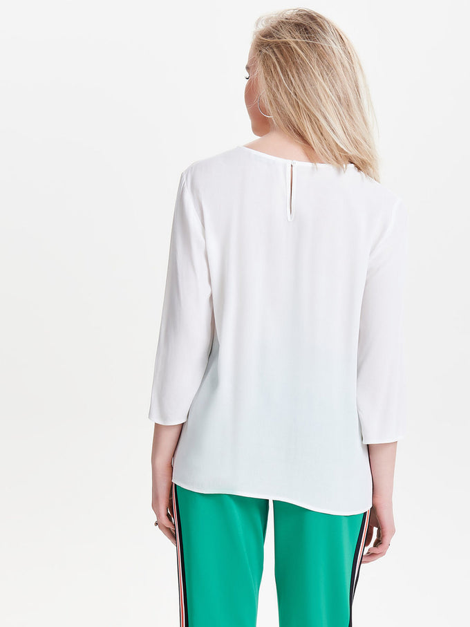 3/4 SLEEVE BLOUSE CLOUD DANCER