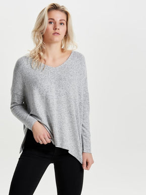 HIGH-LOW SOFT SWEATER