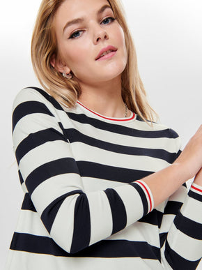 COMFORTABLE STRIPED SWEATER