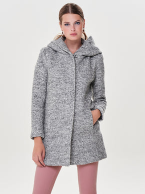 HOODED WOOL-BLEND JACKET