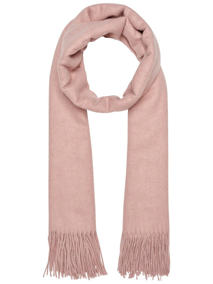 SOFT WOOL-BLEND SCARF MISTY ROSE