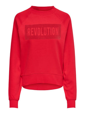 SWEATSHIRT WITH A TEXTURED DETAIL