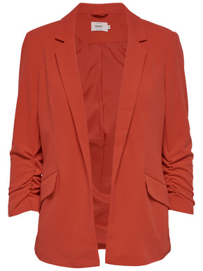BLAZER WITH ELASTIC DETAILS