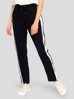 JERSEY PANTS WITH WHITE STRIPES