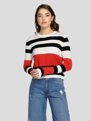 SHORT STRIPED SWEATER