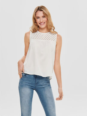 FINAL SALE - SLEEVELESS BLOUSE WITH BACK DETAIL