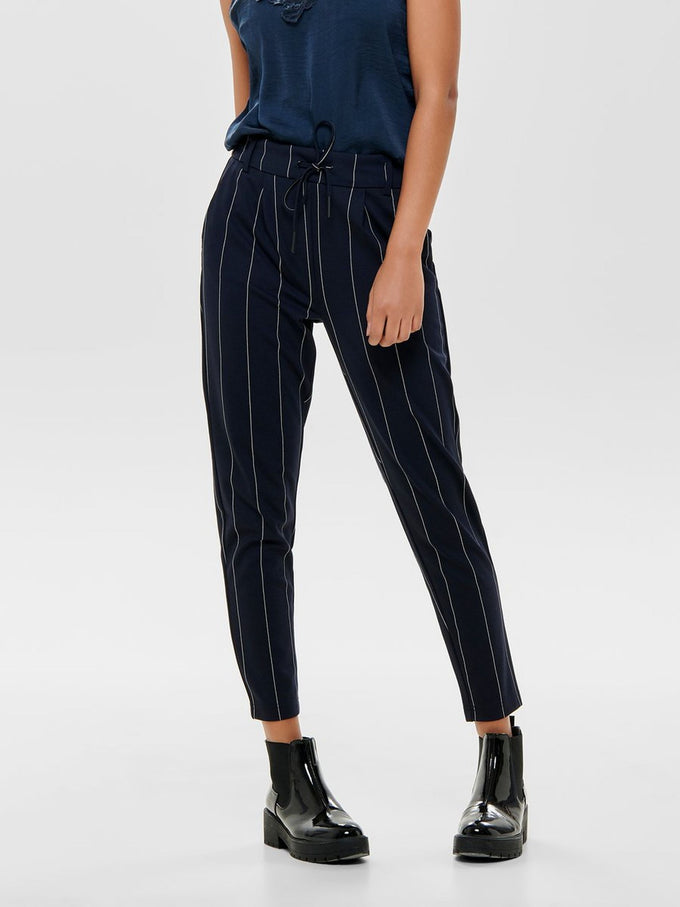 FINAL SALE - STRIPED NAVY POPTRASH PANTS NIGHT SKY