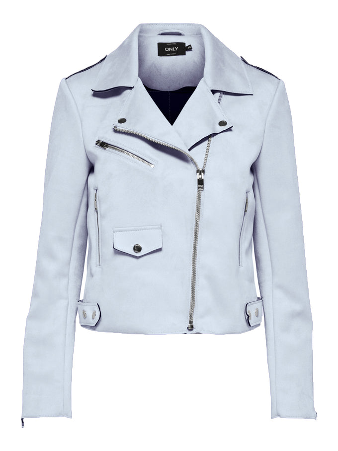 cheapest later enjoy lowest price FAUX-SUEDE MOTO JACKET