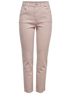 onlEMILY HIGH WAIST STRAIGHT FIT PINK JEANS