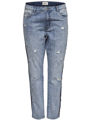 onlTONNI STRAIGHT FIT JEANS WITH STRIPES