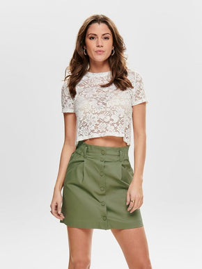 SEE-THROUGH LACE CROPPED TOP