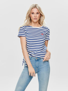 100% ORGANIC-COTTON STRIPED T-SHIRT