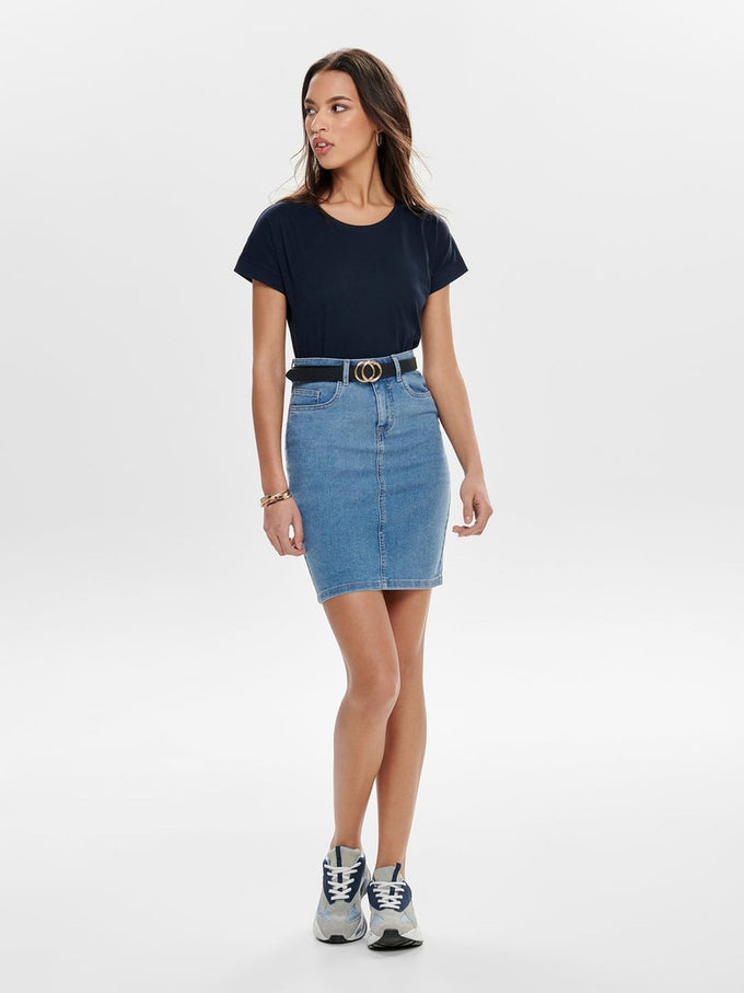 PENCIL DENIM SKIRT LIGHT BLUE DENIM