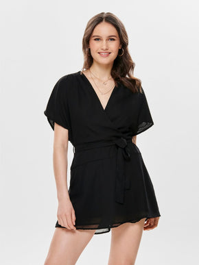 RECYCLED-POLYESTER ROMPER