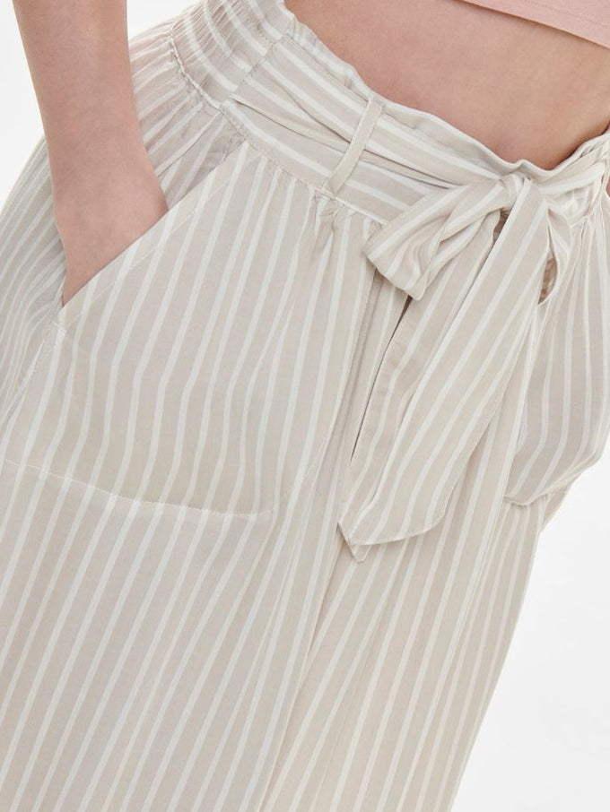 LYOCELL STRIPED SKIRT PUMICE STONE