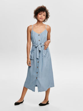 LYOCELL BUTTON-UP DRESS