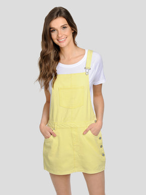 ROBE-SALOPETTE EN DENIM JAUNE