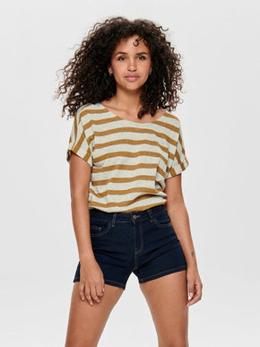 FINAL SALE – LOOSE STRIPED T-SHIRT