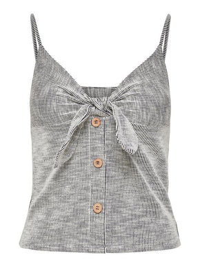 CAMISOLE RAYÉE AVEC BOUTONS