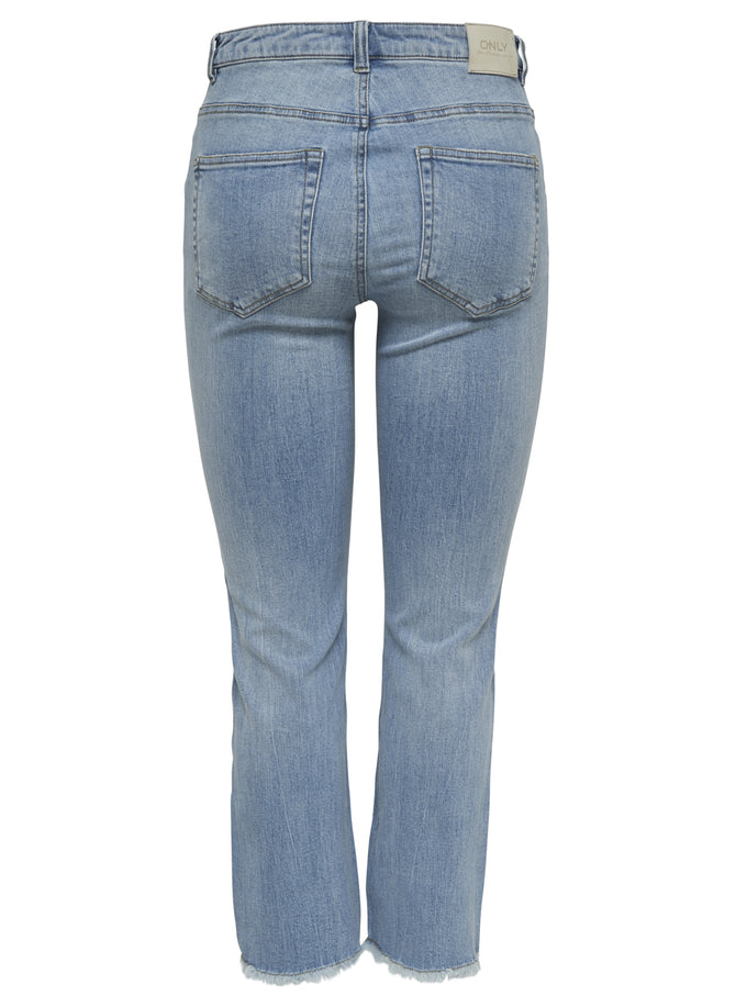 onlKENYA FLARE CROPPED JEANS LIGHT BLUE DENIM