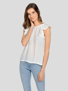 FINAL SALE – BLOUSE WITH FRILLS
