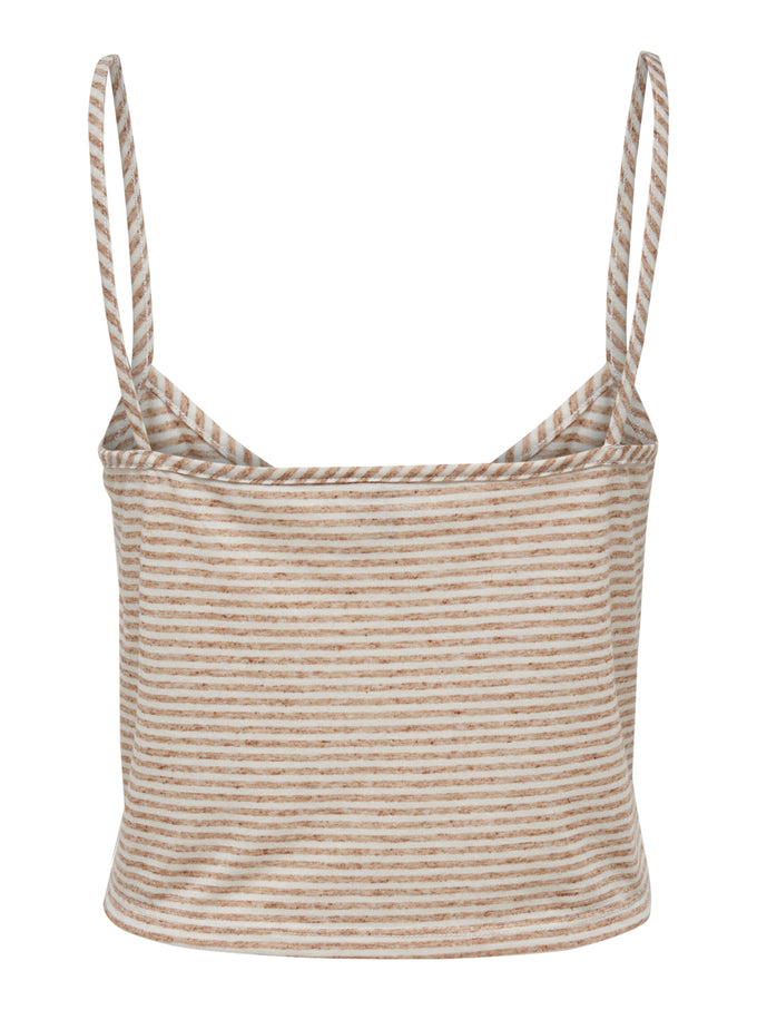 CROPPED CAMI WITH A KNOT SUAGR ALMOND