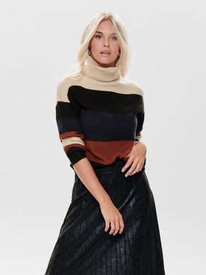 NORA TREATS ROLLNECK PULLOVER KNIT