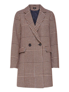 DOUBLE-BREASTED HOUNDSTOOTH JACKET