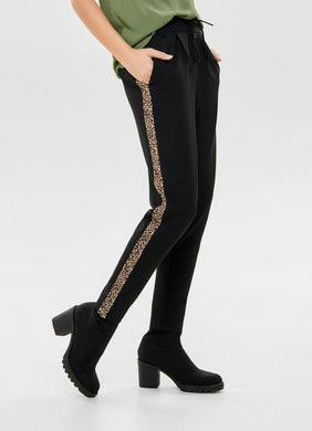 POPTRASH PANTS WITH LEOPARD BAND