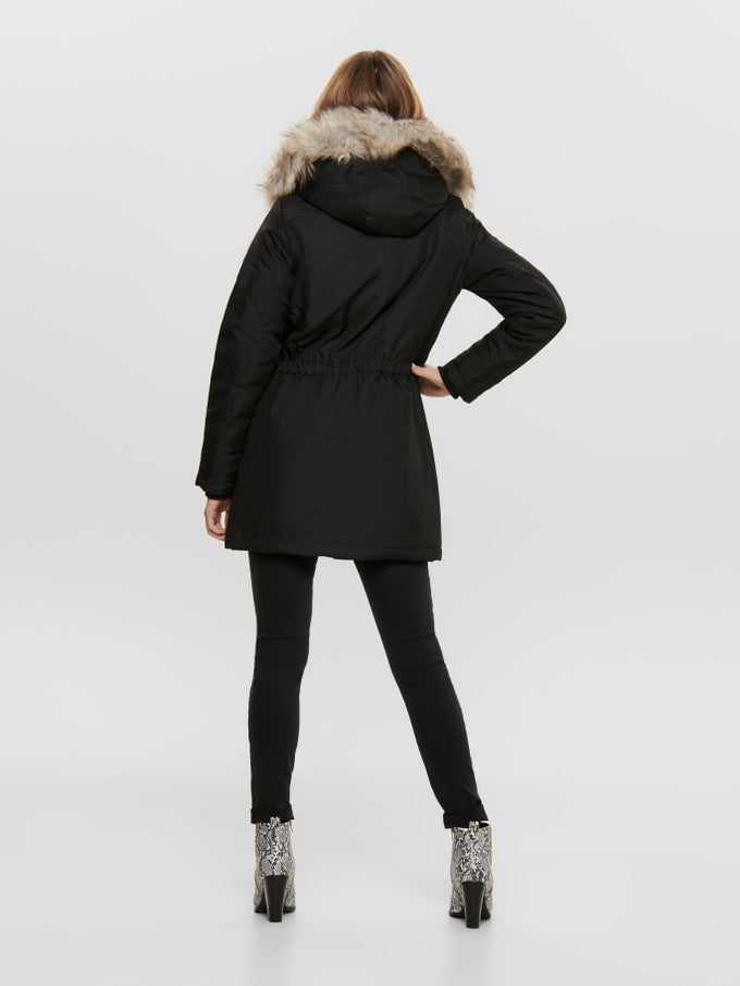 IRIS FUR PARKA BLACK