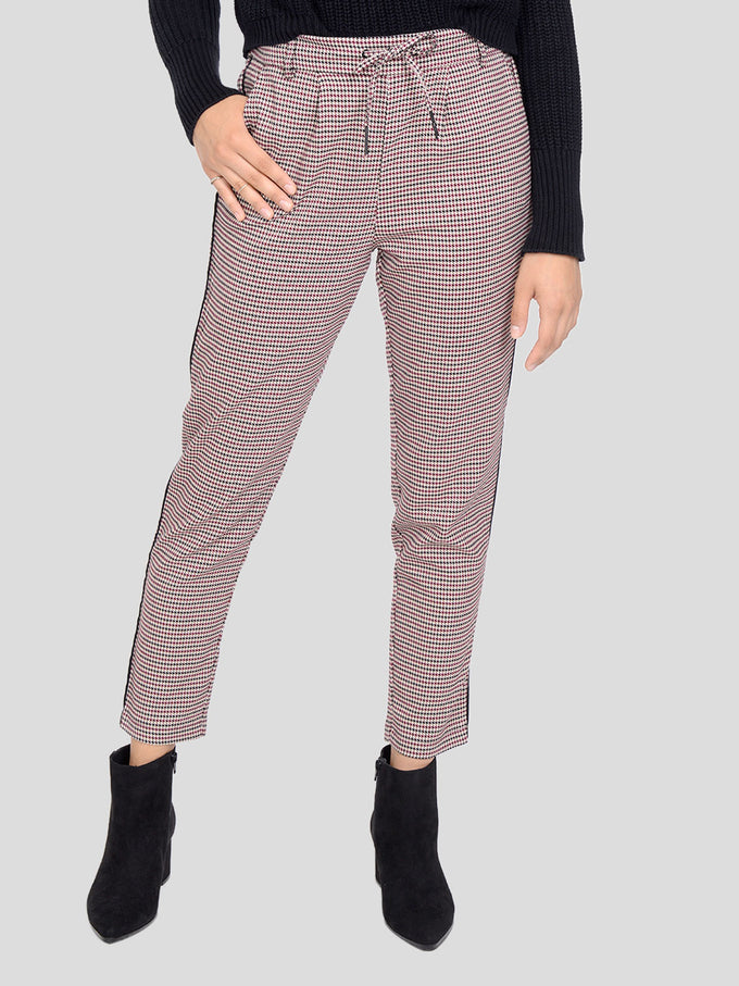 HOUNDSTOOTH POPTRASH PANTS BLACK
