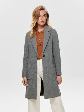 MANTEAU LONG TEXTURÉ