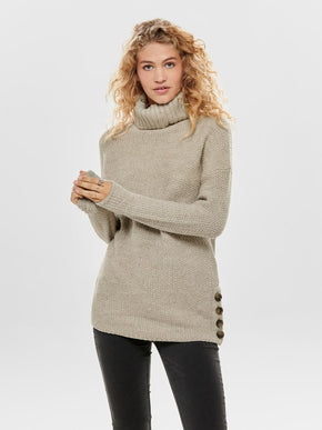 TALIYA LONG SLEEVE HIGHNECK PULLOVER KNIT