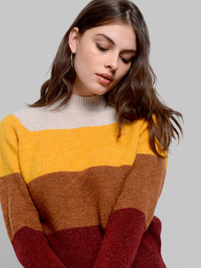 SOFT COLOURBLOCK SWEATER