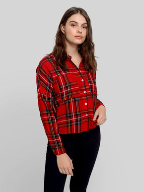 FINAL SALE - SHORT CHECKERED SHIRT
