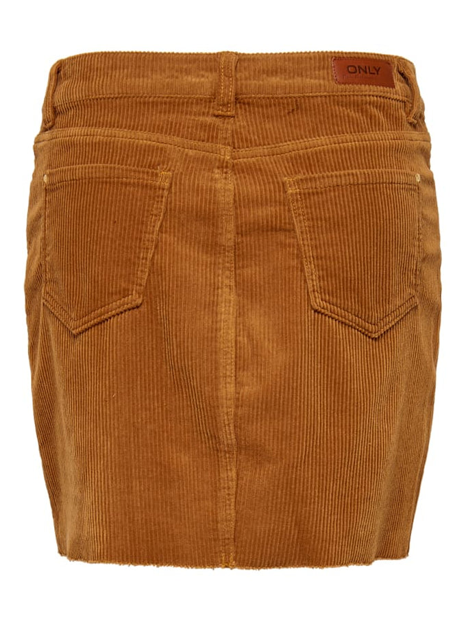 SHORT CORDUROY SKIRT GINGER BREAD