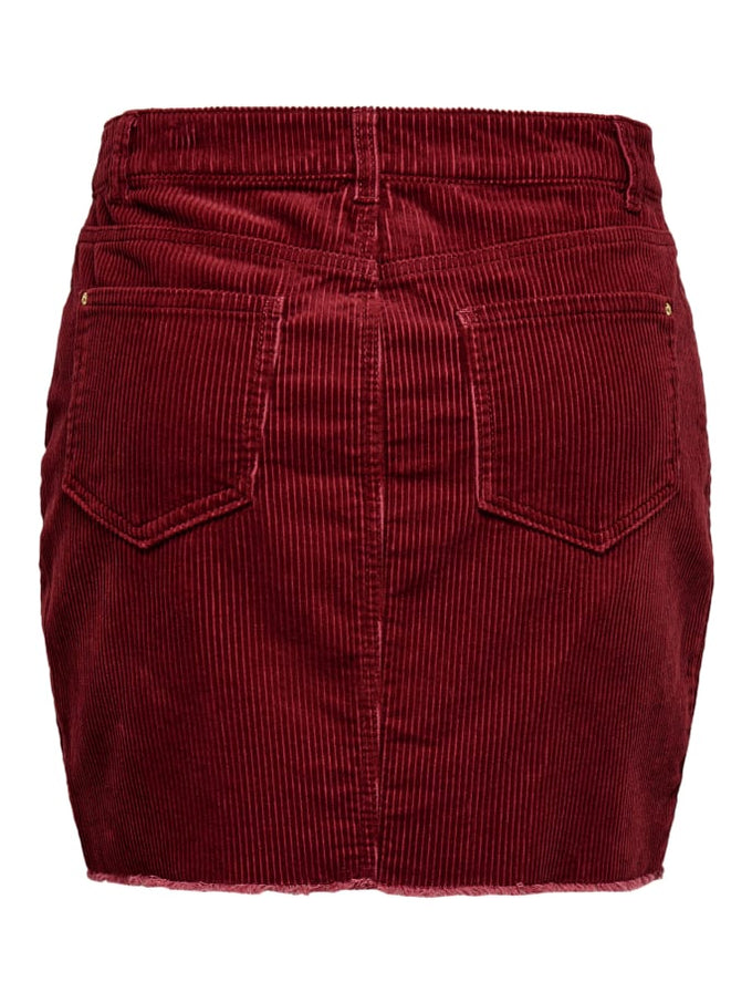 SHORT CORDUROY SKIRT MERLOT