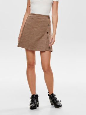 FINAL SALE - STRETCH CHECKERED SKIRT