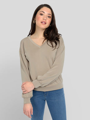 V-NECK GAIA TOP