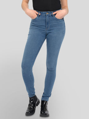 JEANS COUPE SKINNY À TAILLE HAUTE GLOBAL