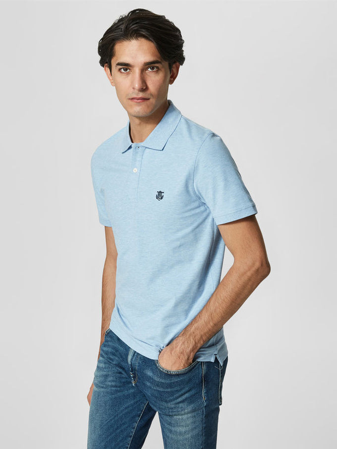 EMBROIDERED PIQUE POLO SKYWAY