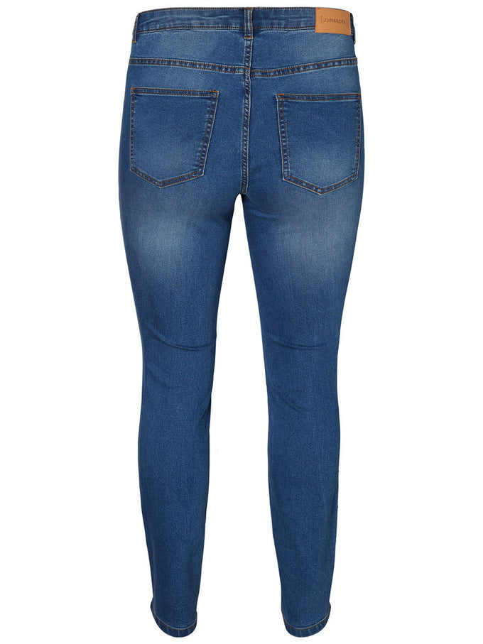 STRETCH SLIM FIT JEANS MEDIUM BLUE DENIM