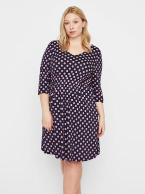 A-LINE DRESS WITH POLKA DOTS