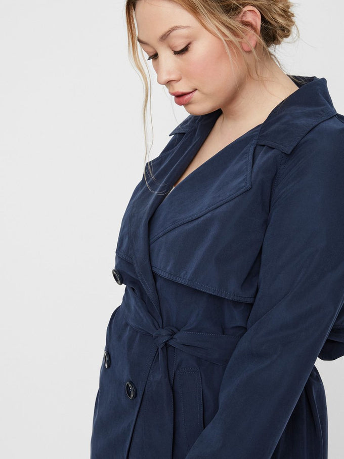 a27b8537c FAUX-SUEDE TRENCH COAT | BLUE