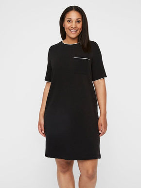 SHORT SLEEVE ABOVE KNEE DRESS
