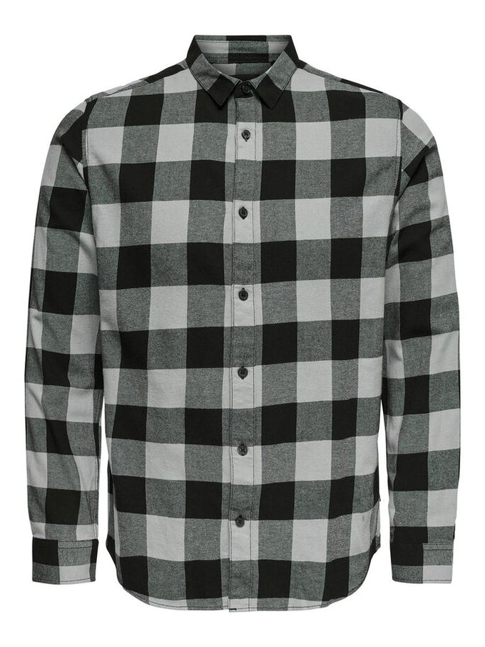 SLIM FIT CHECKERED FLANNEL SHIRT GRIFFIN