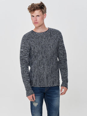 FINAL SALE - TWO-TONE STITCH SWEATER
