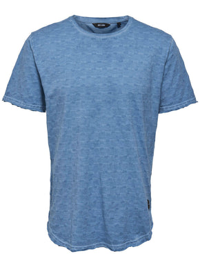 LONG FIT TEXTURED T-SHIRT