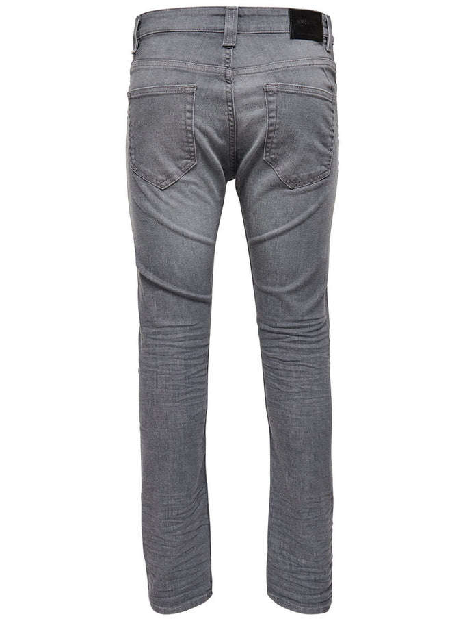 SLIM FIT GREY JEANS MEDIUM GREY DENIM