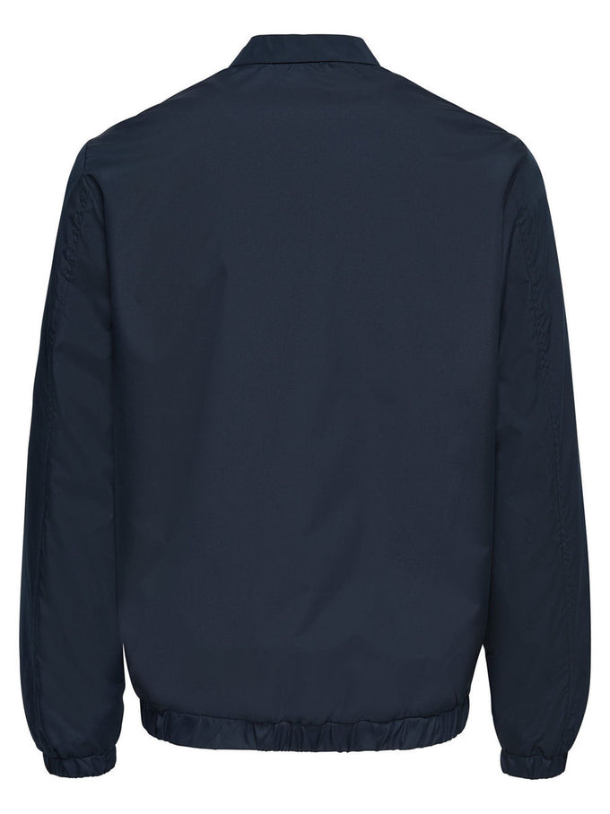 BOMBER JACKET WITH HYBRID COLLAR DARK SAPPHIRE